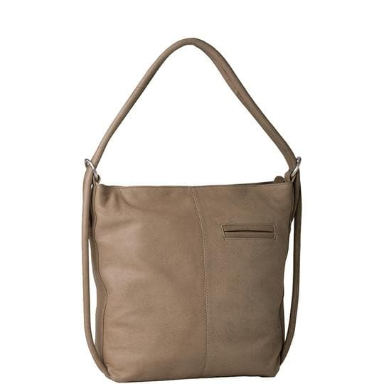 GABEE INDIANA MINI CONVERTIBLE BACKPACK LEATHER TAUPE