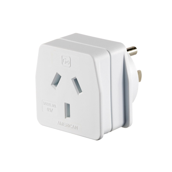 Go Travel Earthed Adaptor - AU/NZ to America