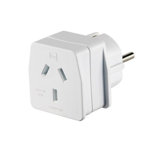 Go Travel Earthed Adaptor - AU/NZ to Europe