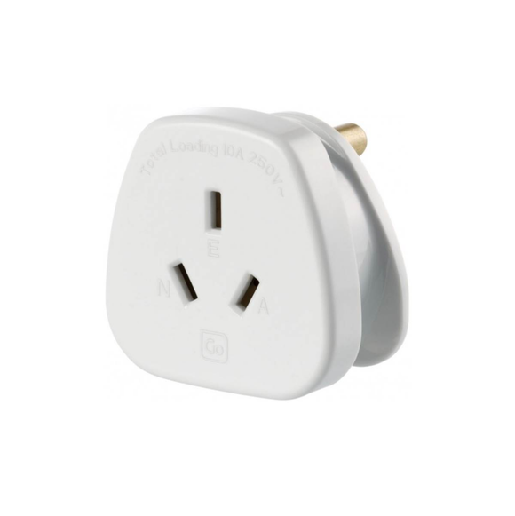 Go Travel Earthed Adaptor - AU/NZ to India