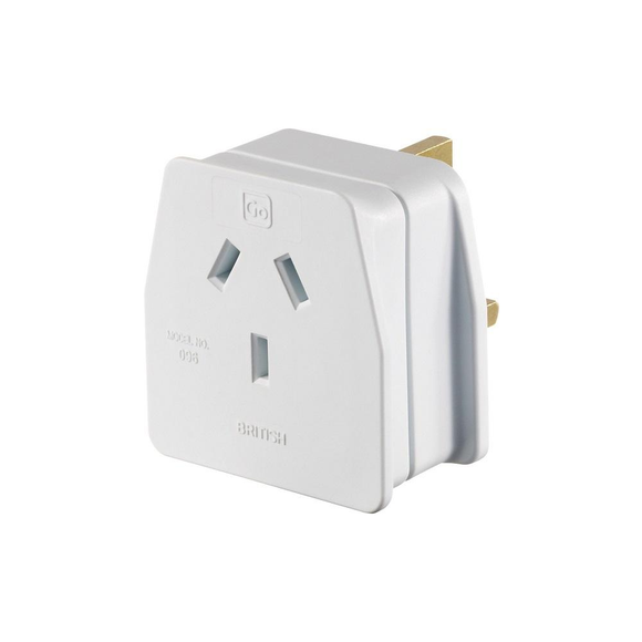 Go Travel Earthed Adaptor - AU/NZ to UK