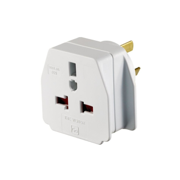 Go Travel Earthed Adaptor - AU/NZ Visitor