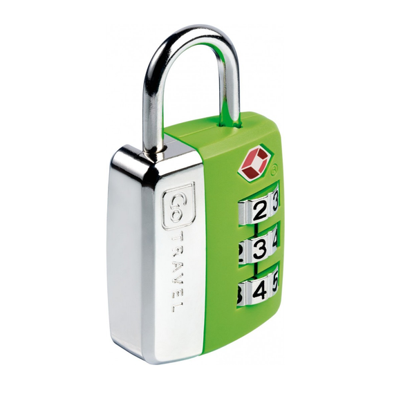 GO TRAVEL BIG WHEEL COMBINATION LOCK TRAVEL SENTRY