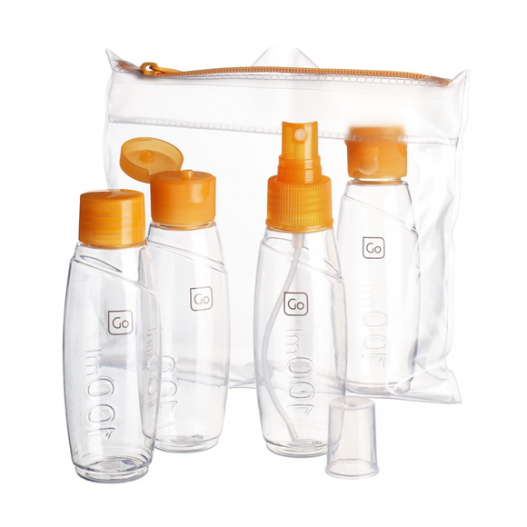 Go Travel Cabin Bottles Set Orange