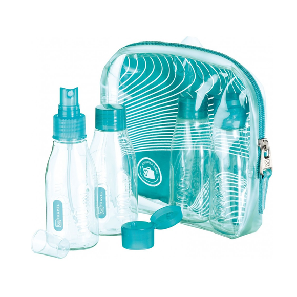 GO TRAVEL FILL AND GO CABIN BOTTLE SET TEAL