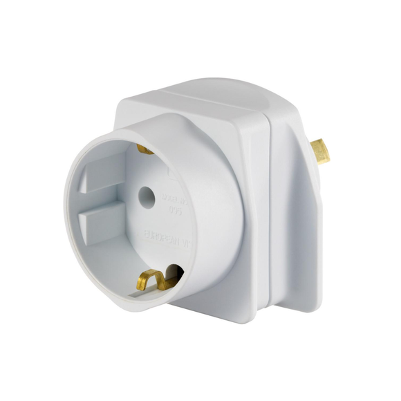 Go Travel Earthed Adaptor - Europe to AU/NZ