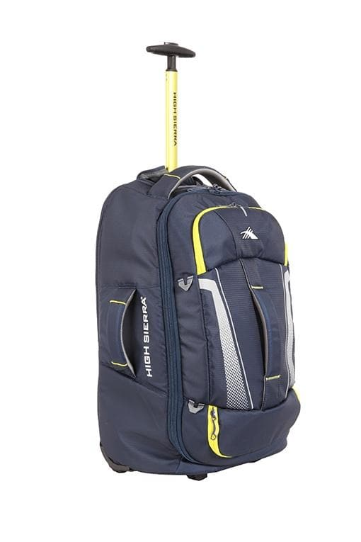 High Sierra Composite V3 56cm Wheeled Duffle Small - Navy/Yellow
