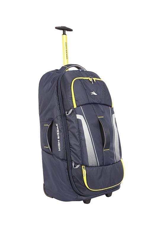 High Sierra Composite V3 76cm Wheeled Duffle Medium - Navy/Yellow