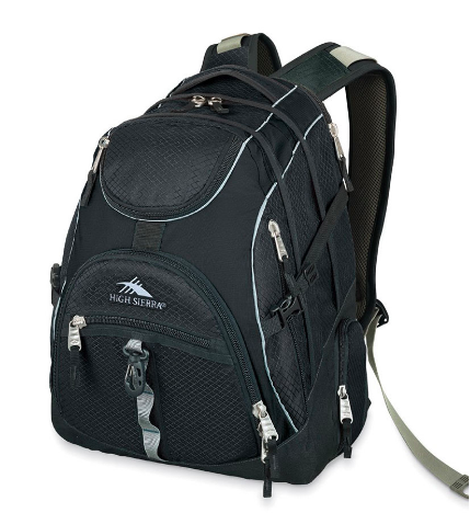 High Sierra Access Laptop Backpack Black