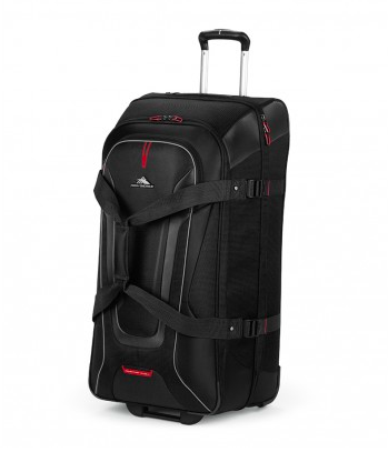 High Sierra AT7 66cm Wheeled Drop Bottom Duffle Black/Red