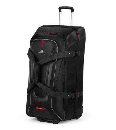 High Sierra AT7 81cm Wheeled Drop Bottom Duffle Black/Red