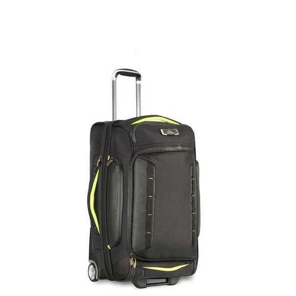 High Sierra AT8 66cm Wheeled Duffel Black/Zest