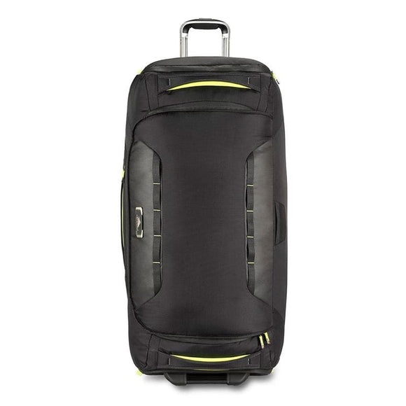 High Sierra AT8 86cm Wheeled Duffel Black/Zest