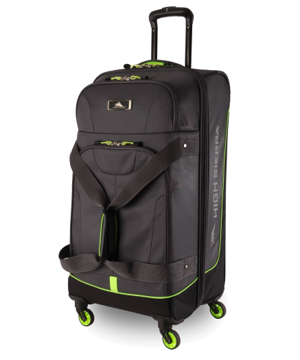 High Sierra Pivot 76cm 4 Wheel Spinner Duffle Mercury Zest