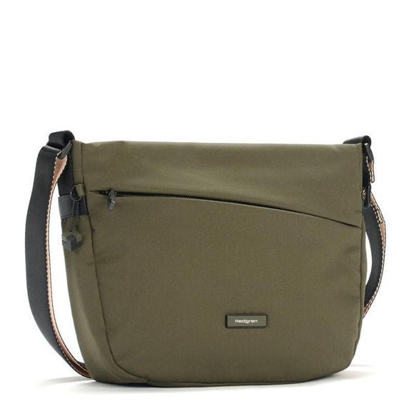 HEDGREN NOVA GRAVITY CROSS BODY BAG EARTH GREEN