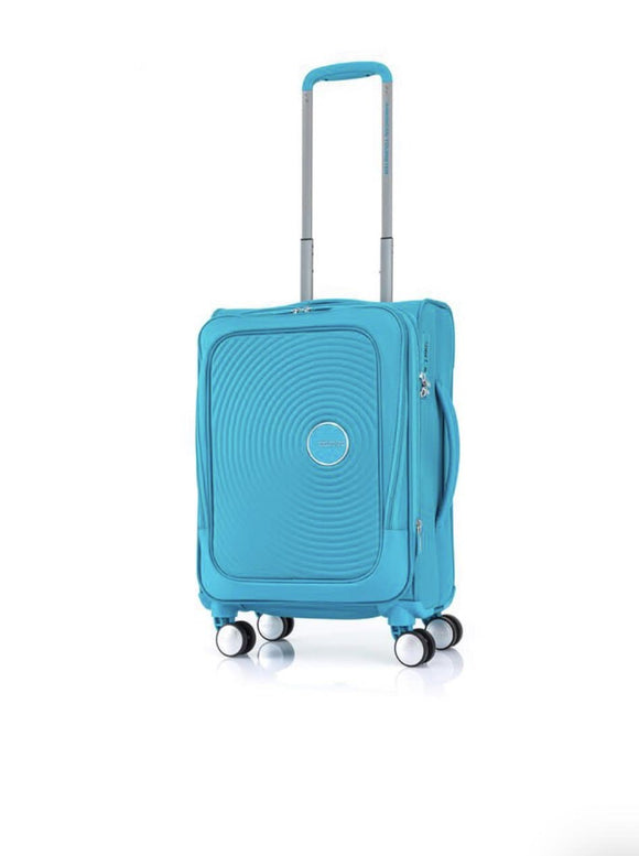 AMERICAN TOURISTER CURIO SOFT SIDE 55CM TURQUOISE