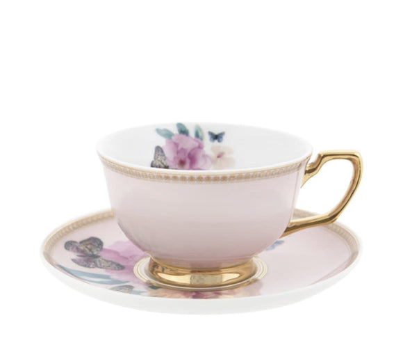 CRISTINA RE  TEACUP & SAUCER BUTTERFLY GARDEN