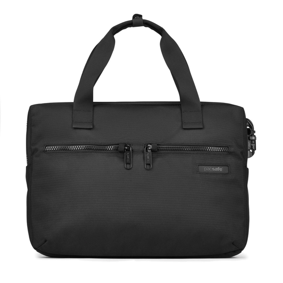 PACSAFE INTASAFE SLIM 15 INCH LAPTOP BRIEFCASE BLACK