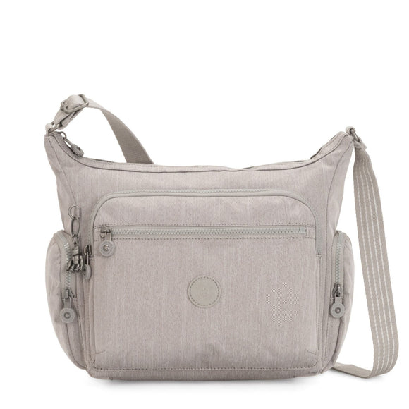 KIPLING PEPPERY GABBIE CROSSBODY GREY BEIGE PEPPERY