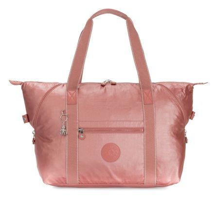 KIPLING BASIC PLUS ART TOTE METALLIC RUST