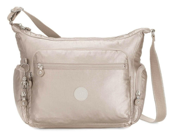 KIPLING BASIC PLUS GABBIE CROSSBODY METALLIC GLOW