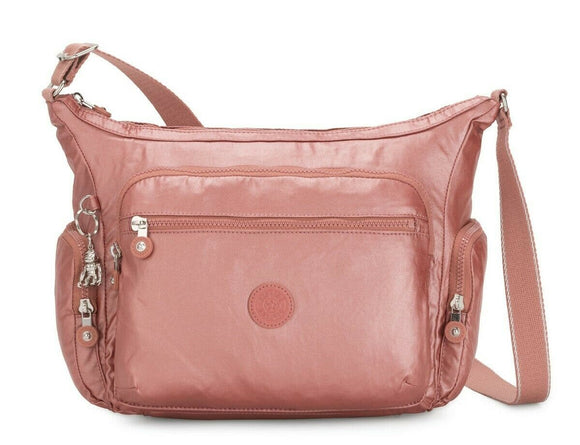 KIPLING BASIC PLUS GABBIE CROSSBODY METALLIC RUST