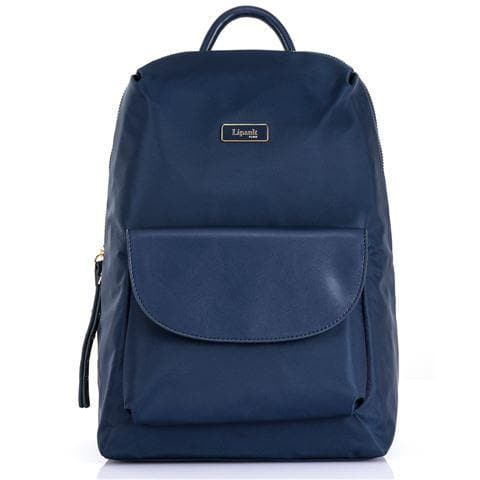 LIPAULT PLUME ESSENTIALS FLAP POCKET BACKPACK SMALL NAVY