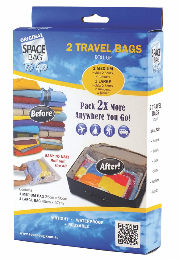 SPACE BAG 2 TRAVEL BAGS