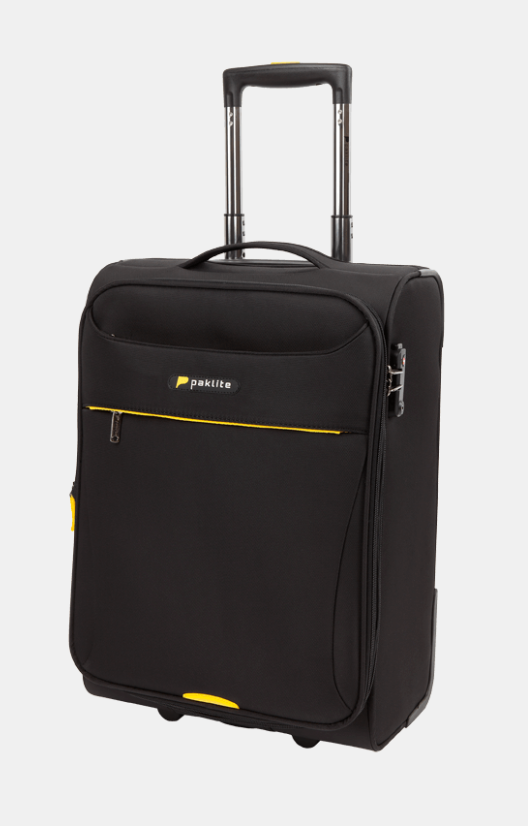 PAKLITE ASTRAL 2 WHEEL 54CM TROLLEY CASE BLACK