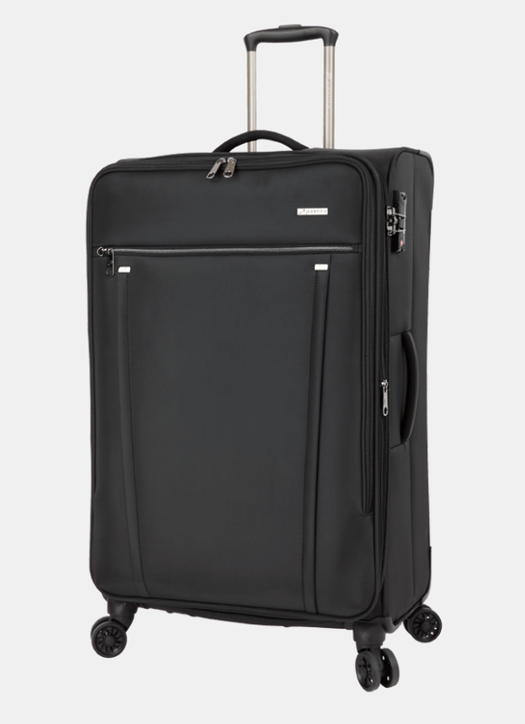Paklite Bureau Business Large 4 Wheel Trolley Case Black