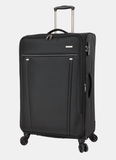 PAKLITE BUREAU 4 TWIN WHEEL 80CM LARGE TROLLEY CASE BLACK