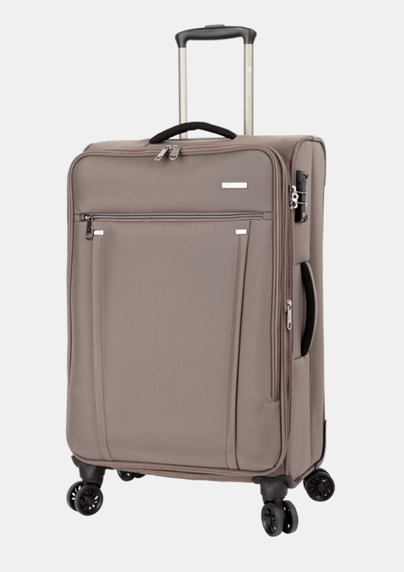 Paklite Bureau Business Medium 4 Wheel Trolley Case Taupe