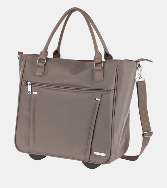 Paklite Bureau Business 2 Wheel Trolley Bag Taupe