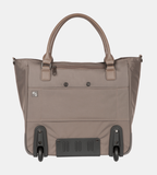 PAKLITE BUREAU 2 WHEEL LADIES BUSINESS TROLLEY CASE TAUPE