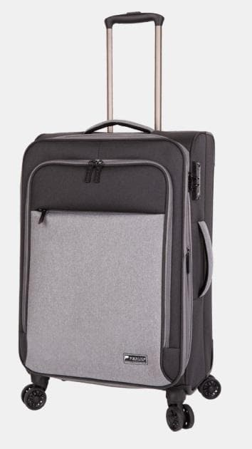 Paklite Limelite Medium 4 Wheel Trolley Case - Black Grey