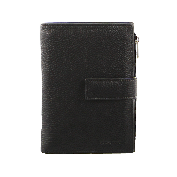 PIERRE CARDIN LADIES LEATHER TAB WALLET BLACK