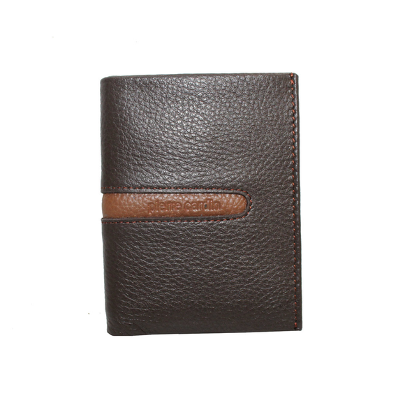 PIERRE CARDIN CARD HOLDER BROWN TAN