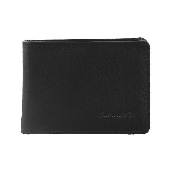 PIERRE CARDIN MENS LEATHER RFID WALLET BLACK