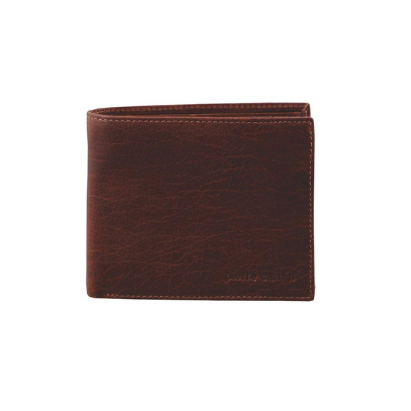 PIERRE CARDIN ITALIAN LEATHER MENS WALLET WITH REMOVABLE CARDHOLDER CHESTNUT