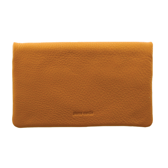 PIERRE CARDIN LARGE LEATHER LADIES WALLET YELLOW