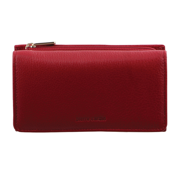PIERRE CARDIN ITALIAN LEATHER LADIES WALLET RED