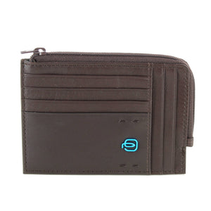 Piquadro Card Holder with Zip Wallet PU1243P15/M Brown