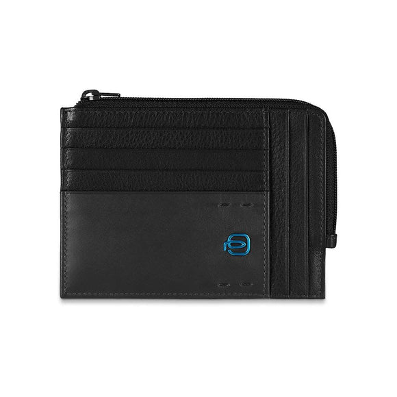 Piquadro Card Holder with Zip Wallet PU1243P15/N Black