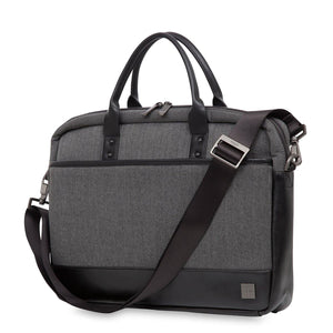 KNOMO HOLBORN PRINCETON LAPTOP BRIEF 15.6 INCH GREY
