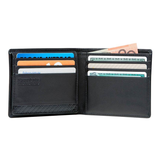 SAMSONITE DLX LEATHER WALLETS WALLET WITH ID PLUS 9CC BLACK