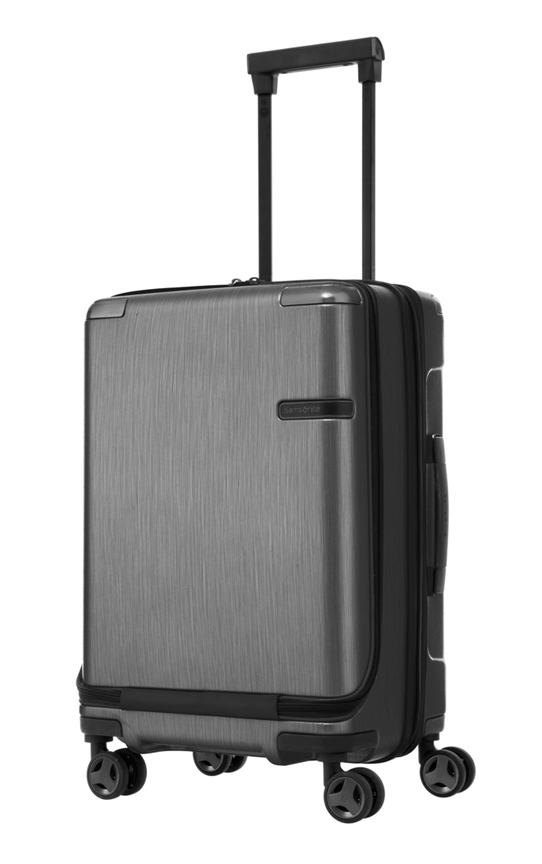 SAMSONITE EVOA 55CM SPINNER PLUS FRONT POCKET BRUSHED BLACK