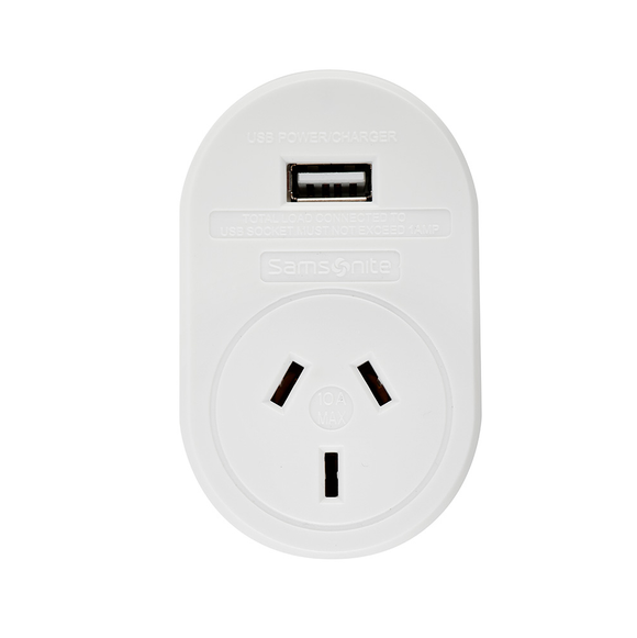 Samsonite International Travel Adaptor With USB Socket - USA, Canada and More