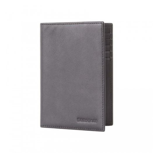 SAMSONITE LEATHER PASSPORT WALLET BLACK