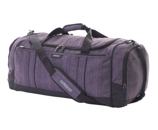 AMERICAN TOURISTER TRAVEL DUFFLE GUN METAL