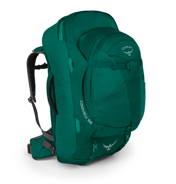 OSPREY FAIRVIEW 55 XS S RAINFOREST GREEN